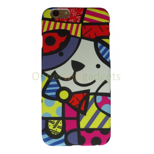 Britto case iPhone 6 Plus en iPhone 6S Plus Hondje