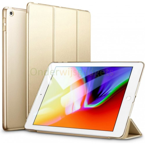Dasaja Premium vouwbare hoes / case voor iPad 9.7 (2017 / 2018) champagne goud