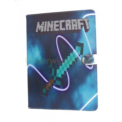 iPad 2, 3, 4 Minecraft case blauw