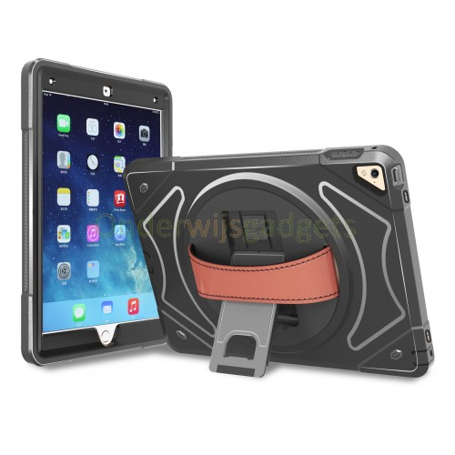 360 graden draaibare, rugged, iPad 10.2 (2019) case met screenprotector zwart