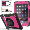 iPad 9.7 (2017 & 2018) case / hoes met screenprotector, handriem en schouderriem voor Horeca en Bouw Roze