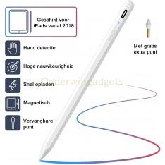 Dasaja Actieve Stylus Pen - met hand detectie - geschikt voor iPads vanaf 2018 - met USB C kabel - met extra schrijfpunt - Wit