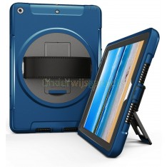 360 graden draaibare, rugged, iPad 9.7 (2017 & 2018) / Air 2 / Pro 9.7 case met screenprotector blauw