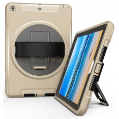 360 graden draaibare, rugged, iPad 9.7 (2017 & 2018) / Air 2 / Pro 9.7 case met screenprotector goud