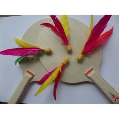 Ping Pang Beachball / badminton mini shuttle gemixt in vrolijke kleuren