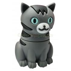 USB-stick schattige kat / poes grijs met zwarte strepen 16GB