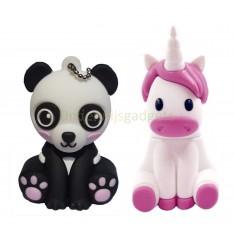 Cuteness pack - set van 2 USB sticks Panda 8 GB  + Eenhoorn 8 GB
