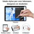 Dasaja Actieve Stylus Pen - met hand detectie - geschikt voor iPads vanaf 2018 - met USB C kabel - met extra schrijfpunt - Roze