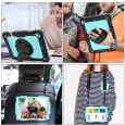 iPad 9.7 (2017 & 2018) case / hoes met screenprotector, handriem en schouderriem voor Horeca en Bouw Lichtblauw