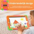 iPad 10.2 (2019 & 2020) case / hoes met screenprotector, handriem en schouderriem voor kinderen en scholen - Kleurrijk Paars