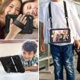 iPad mini 4 / 5 case / hoes met screenprotector, handriem en schouderriem voor Horeca en Bouw